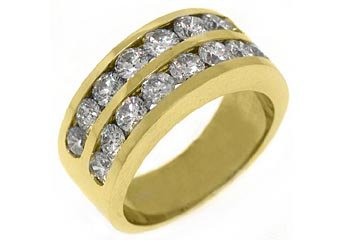 2.36 CARAT WOMENS BRILLIANT ROUND CUT DIAMOND RING WEDDING BAND YELLOW GOLD