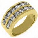 2.36 CARAT WOMENS BRILLIANT ROUND CUT DIAMOND RING WEDDING BAND YELLOW GOLD