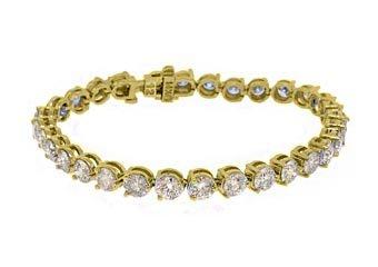 "WOMENS DIAMOND TENNIS LINK BRACELET 12.50 CARAT ROUND CUT YELLOW GOLD 7"" INCH"