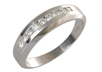 MENS 1.50 CARAT BRILLIANT ROUND CUT DIAMOND RING WEDDING BAND 14KT WHITE GOLD