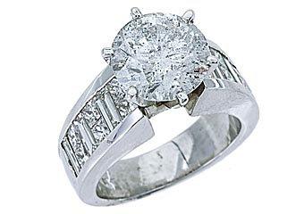 4.75 CARAT WOMENS DIAMOND ENGAGEMENT WEDDING RING BRILLIANT ROUND CUT WHITE GOLD