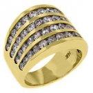 3.28 CARAT WOMENS BRILLIANT ROUND CUT DIAMOND RING WEDDING BAND YELLOW GOLD