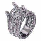 5.49 CARAT WOMENS DIAMOND ENGAGEMENT RING SEMI-MOUNT ROUND CUT WHITE GOLD