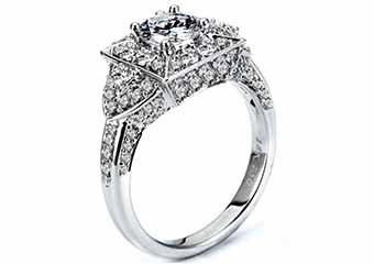 WOMENS DIAMOND ENGAGEMENT HALO RING ROUND CUT 2.04 CARAT 18K WHITE GOLD