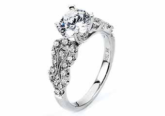 WOMENS DIAMOND ENGAGEMENT RING ROUND CUT 1.87 CARAT 18K WHITE GOLD