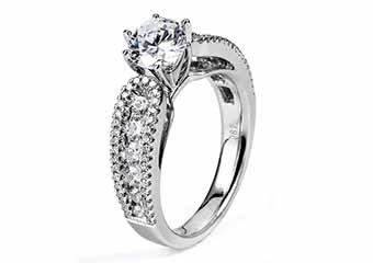 WOMENS DIAMOND ENGAGEMENT RING ROUND CUT 1.87 CARAT 14K WHITE GOLD
