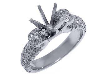 .92 CARAT WOMENS DIAMOND ENGAGEMENT RING SEMI-MOUNT ROUND CUT WHITE GOLD