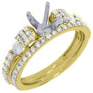 1.10 CARAT WOMENS DIAMOND ENGAGEMENT RING SEMI-MOUNT SET ROUND CUT YELLOW GOLD