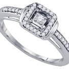 .19 CARAT CUSHION SHAPE CUT DIAMOND ENGAGEMENT PROMISE HALO RING  WHITE GOLD