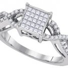 .46 CARAT WOMENS DIAMOND ENGAGEMENT PROMISE RING PRINCESS CUT SHAPE WHITE GOLD