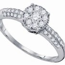 .50 CARAT WOMENS DIAMOND ENGAGEMENT PROMISE RING BRILLIANT ROUND CUT WHITE GOLD