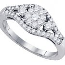 .63 CARAT WOMENS DIAMOND ENGAGEMENT RING BRILLIANT ROUND CUT SHAPE WHITE GOLD