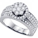 1.26 CARAT WOMENS DIAMOND ENGAGEMENT RING BRILLIANT ROUND CUT SHAPE WHITE GOLD