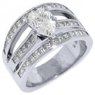 3 CARAT WOMENS DIAMOND ENGAGEMENT WEDDING RING PEAR SHAPE PRINCESS WHITE GOLD