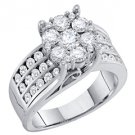 2 CARAT WOMENS DIAMOND ENGAGEMENT RING BRILLIANT ROUND SHAPE WHITE GOLD