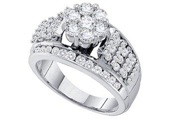 1.50 CARAT WOMENS DIAMOND ENGAGEMENT RING BRILLIANT ROUND SHAPE WHITE GOLD
