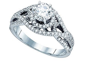 .85 CARAT WOMENS DIAMOND ENGAGEMENT RING BRILLIANT ROUND SHAPE WHITE GOLD