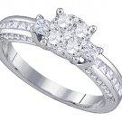 .96 CARAT WOMENS DIAMOND ENGAGEMENT RING BRILLIANT ROUND SHAPE WHITE GOLD