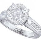 1 CARAT WOMENS DIAMOND ENGAGEMENT RING BRILLIANT ROUND PRINCESS CUT WHITE GOLD