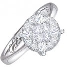 1 CARAT BRILLIANT ROUND CUT SHAPE DIAMOND PROMISE ENGAGEMENT RING WHITE GOLD