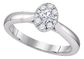 .39 CARAT OVAL SHAPE DIAMOND PROMISE ENGAGEMENT RING WHITE GOLD