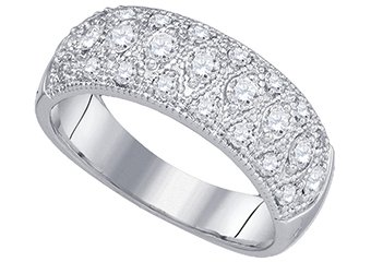 .77 CARAT WOMENS BRILLIANT ROUND CUT DIAMOND RING WEDDING BAND WHITE GOLD