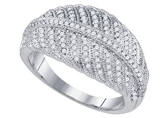 .40 CARAT WOMENS BRILLIANT ROUND CUT DIAMOND RING WEDDING BAND WHITE GOLD