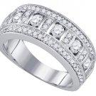 1 CARAT WOMENS BRILLIANT ROUND CUT DIAMOND RING WEDDING BAND WHITE GOLD