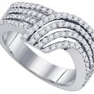 .74 CARAT WOMENS BRILLIANT ROUND CUT DIAMOND RING WEDDING BAND WHITE GOLD