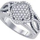 .68 CARAT WOMENS BRILLIANT ROUND CUT DIAMOND RING WEDDING BAND WHITE GOLD