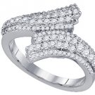 .81 CARAT WOMENS BRILLIANT ROUND CUT DIAMOND RING WEDDING BAND WHITE GOLD