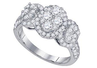 1.42 CARAT WOMENS BRILLIANT ROUND CUT DIAMOND RING WEDDING BAND WHITE GOLD