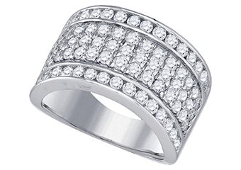 2.01 CARAT WOMENS BRILLIANT ROUND CUT DIAMOND RING WEDDING BAND WHITE GOLD