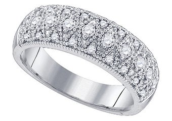 .64 CARAT WOMENS BRILLIANT ROUND CUT DIAMOND RING WEDDING BAND WHITE GOLD