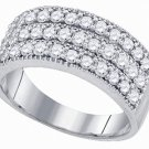 .94 CARAT WOMENS BRILLIANT ROUND CUT DIAMOND RING WEDDING BAND WHITE GOLD