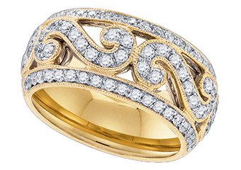 .84 CARAT WOMENS BRILLIANT ROUND CUT DIAMOND RING WEDDING BAND YELLOW GOLD