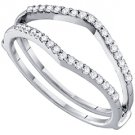 .25 CARAT WOMENS BRILLIANT ROUND CUT DIAMOND RING GUARD WEDDING BAND WHITE GOLD
