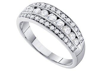 .72 CARAT WOMENS BRILLIANT ROUND CUT DIAMOND RING WEDDING BAND WHITE GOLD
