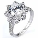 WOMENS DIAMOND ENGAGEMENT RING ROUND CUT 2.13 CARAT 18K WHITE GOLD