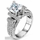 WOMENS DIAMOND ENGAGEMENT RING PRINCESS CUT 2.20 CARAT 14K WHITE GOLD