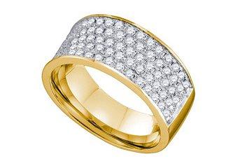 1.03 CARAT WOMENS BRILLIANT ROUND CUT DIAMOND RING WEDDING BAND YELLOW GOLD