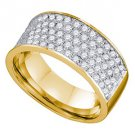 1.03 CARAT WOMENS BRILLIANT ROUND CUT DIAMOND RING WEDDING BAND YELLOW GOLD