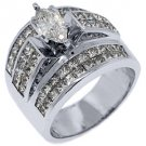 5 CARAT WOMENS DIAMOND ENGAGEMENT RING MARQUISE PRINCESS INVISIBLE WHITE GOLD