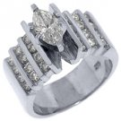 1.83 CARAT WOMENS DIAMOND ENGAGEMENT WEDDING RING MARQUISE ROUND CUT WHITE GOLD