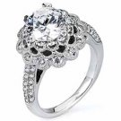 WOMENS DIAMOND ENGAGEMENT HALO RING ROUND CUT 1.82 CARAT 18K WHITE GOLD