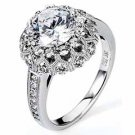WOMENS DIAMOND ENGAGEMENT HALO RING ROUND CUT 2.19 CARAT 18K WHITE GOLD