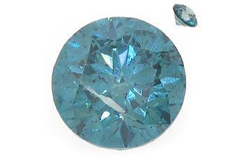 1 Carat Fancy Blue Brilliant Round Cut Diamond Loose Gem Stone SI1