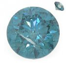 1 Carat Fancy Blue Brilliant Round Cut Diamond Loose Gem Stone SI1