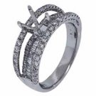 1.15 CARAT WOMENS DIAMOND ENGAGEMENT RING SEMI-MOUNT ROUND CUT WHITE GOLD