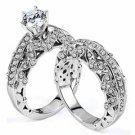 WOMENS DIAMOND ENGAGEMENT RING WEDDING BAND BRIDAL SET ROUND CUT 2.11 CARAT